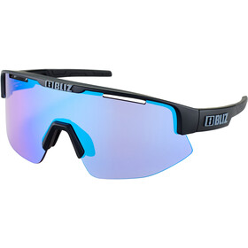 Bliz Matrix M12 Glasses matt black/violet with blue multi nordic light
